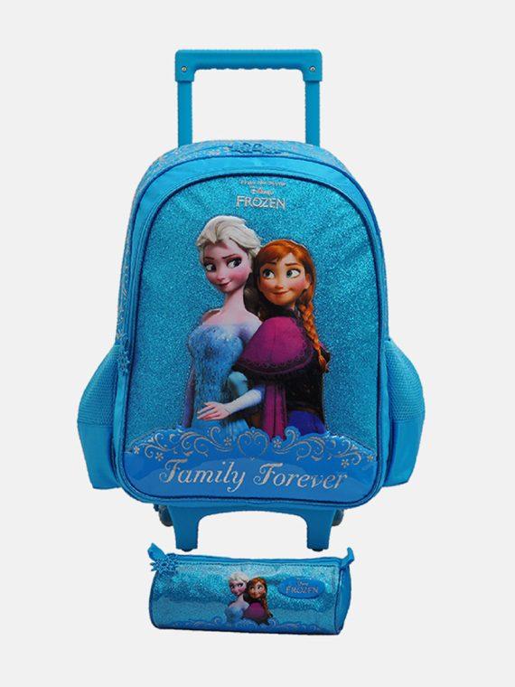 Disney Frozen Trolley Bag 47 H x 31 L x 17 W cm Blue Combo