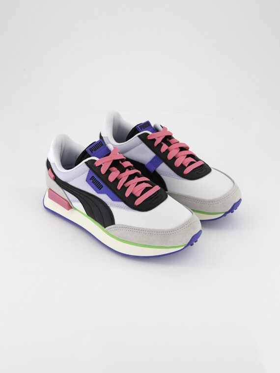 Kids Boys Future Rider Play On Sneakers White/Grey/Violet/Black
