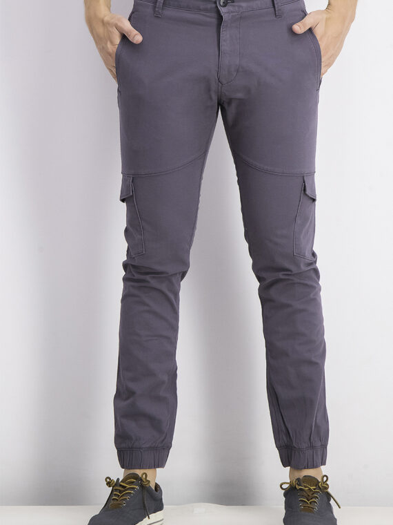 Mens Cargo Pants Charcoal