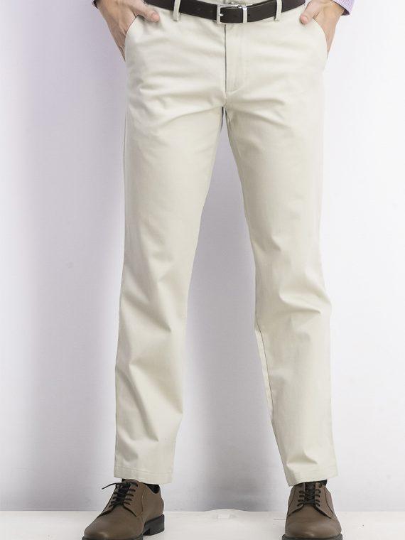Mens Lux Cotton Straight Fit Stretch Pants Cloud