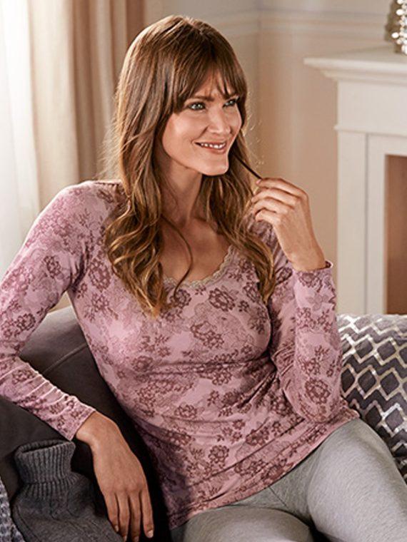 Women Long Sleeve T-Shirt Pink