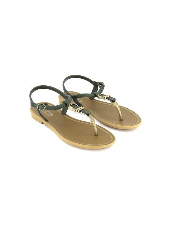 Womens Cacau Momentos Sandals Green