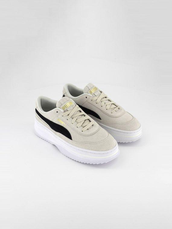 Womens Deva Suede Shoes Marshmallow/Black