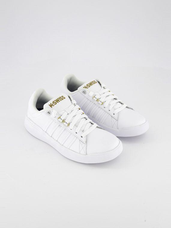 Womens Medium Pershing Court Light CMF Shoes White/Gold