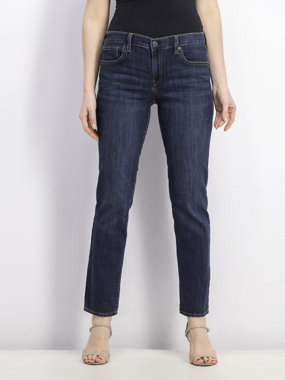 Womens Regular Classic Straight Jeans Dark Blue