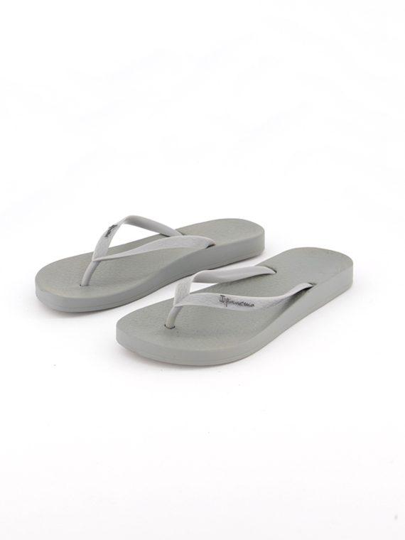 Womens Slip On Slippers Grey