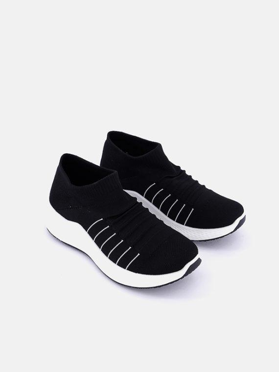 Womens Slip On Sneakers Black