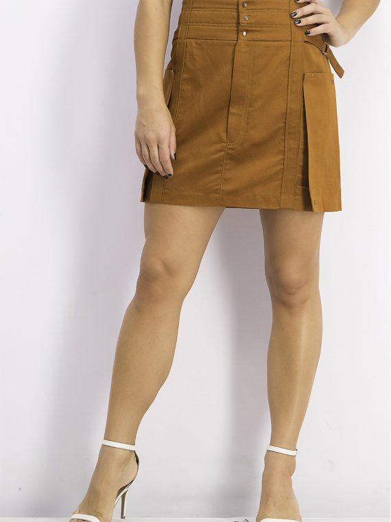 Womens Utility Skirt Brown